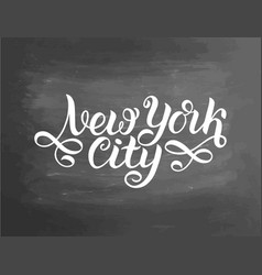 greetings from new york city usa typography vector image