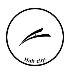 Hair clip icon vector