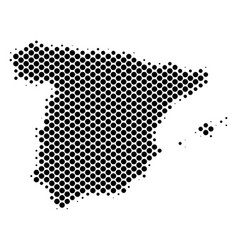 halftone abstract spain map vector image