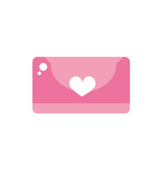 happy valentines day envelope message heart love vector image