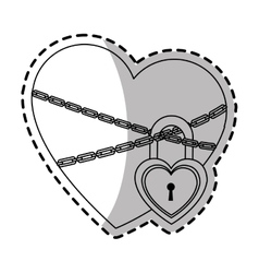Heart with padlock vector