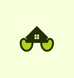 home roofing leaves naturally business logo vector image