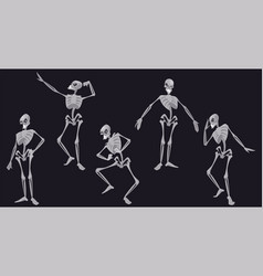 human skeleton character in different poses vector image
