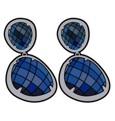 isolated earrings vector image