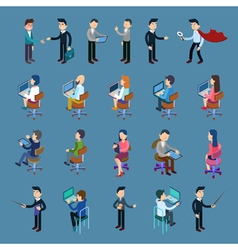 Isometric Office Workers Business People Set vector