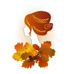 lady autumn vector image