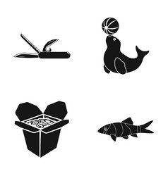 Leisure fast food and other web icon in black vector