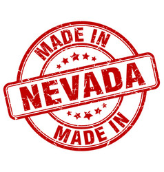 Made in nevada red grunge round stamp vector
