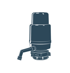 Manual water pump monochrome vector