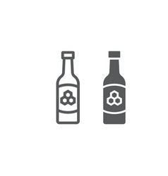 mead line and glyph icon st patrick s day vector image
