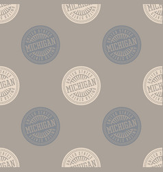 Michigan seamless pattern vector