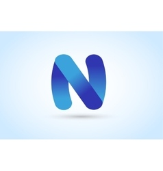 N letter logo icon template vector