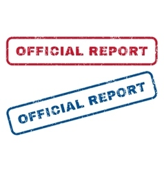 Official Report Rubber Stamps vector