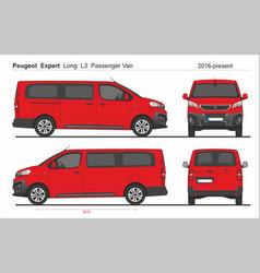 Peugeot expert passenger long van l3 2016-present vector