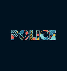 Police concept word art vector