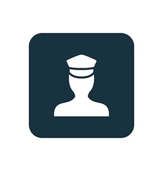 policeman icon Rounded squares button vector image