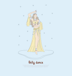 pretty woman in authentic dress beautiful dancer vector image