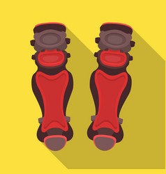 Protective knee pads baseball single icon in flat vector