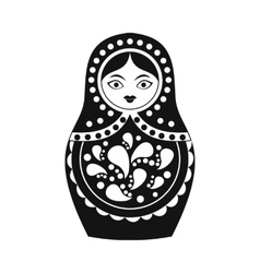 Russian matryoshka icon simple style vector