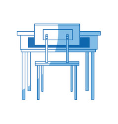 school table and chair furniture class vector image