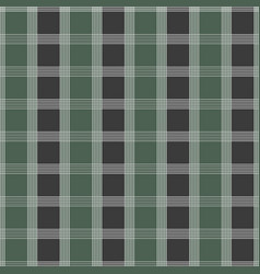 seamless tartan pattern green and grey kilt vector image