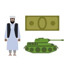 Set of icons for military conflict in Syria vector image