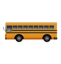 Side of modern school bus mockup realistic style vector