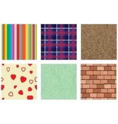 Six seamless background vector image