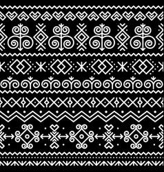 Slovak folk art seamless pattern vector