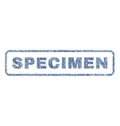 Specimen textile stamp vector