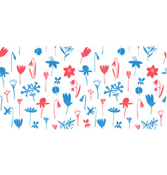 spring flowers colour seamless pattern vector image