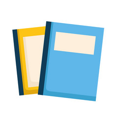 stack of books isolated icon vector image