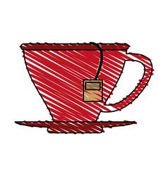 Tea bag in cup icon image vector