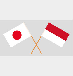 The indonesian and japanese flags vector