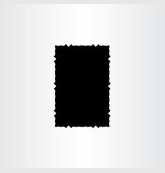 torn paper black frame label background vector image