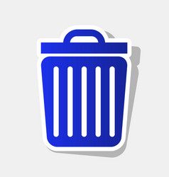 Trash sign new year bluish vector