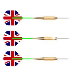 uk darts vector image
