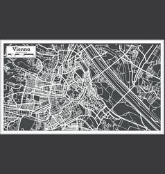 vienna austria map in retro style vector image