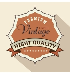 Vintage frame quality seal vector