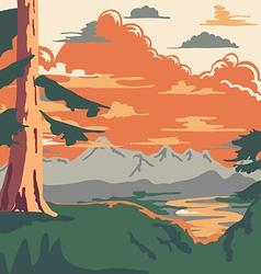 Vintage Style Landscape Background vector image