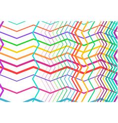 Vivid vibrant zig-zag criss-cross serrated vector