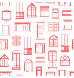 window flat icons monochrome background vector image