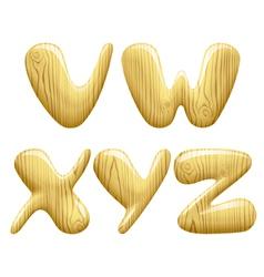 Wood alphabet letters vector