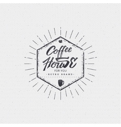 Coffee house - badge signboard can be used to vector image vector image
