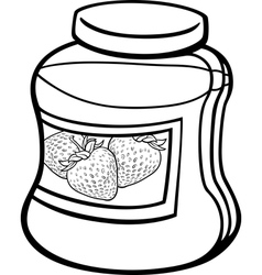 jam in jar cartoon coloring page vector image