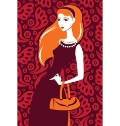 stylish girl vector image