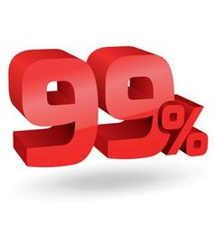 99 percent digits vector image vector image