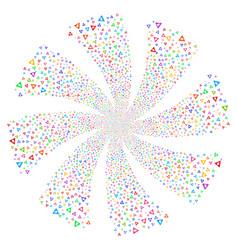 caution fireworks swirl rotation vector image vector image