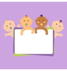 funny children vector image