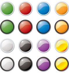 glass buttons vector image vector image